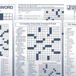 The Daily Commuter Puzzlejackie Mathews | Tribune Content Agency   Printable Newspaper Crossword Puzzles For Free