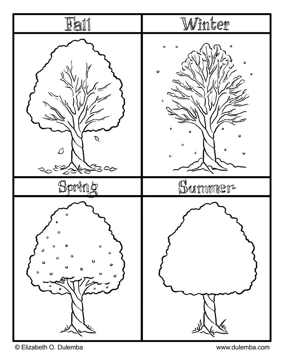 The Four Seasons Colouring Pages   Preschool   Seasons Worksheets - Free Printable Pictures Of The Four Seasons