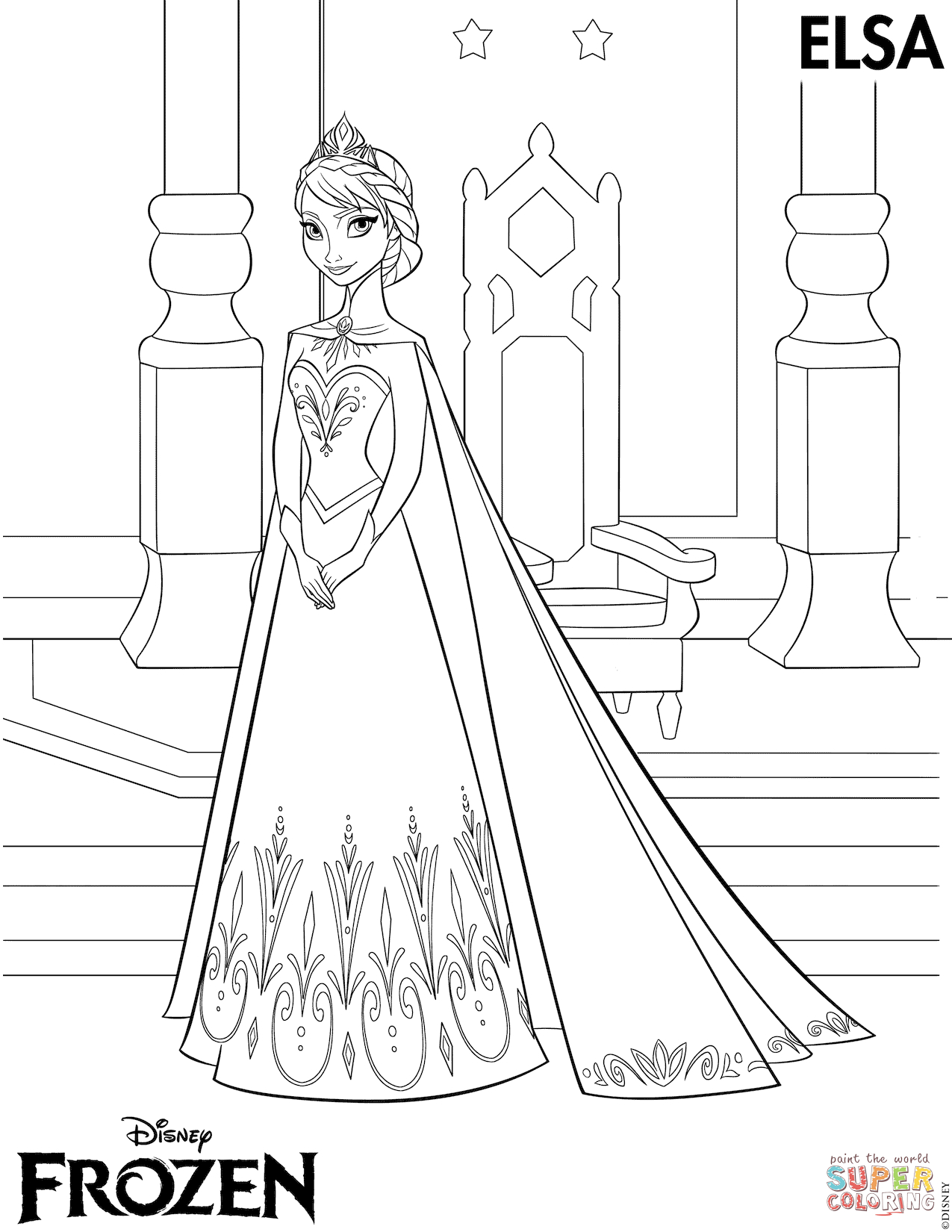 The Frozen Coloring Pages | Free Coloring Pages - Free Printable Frozen Coloring Pages