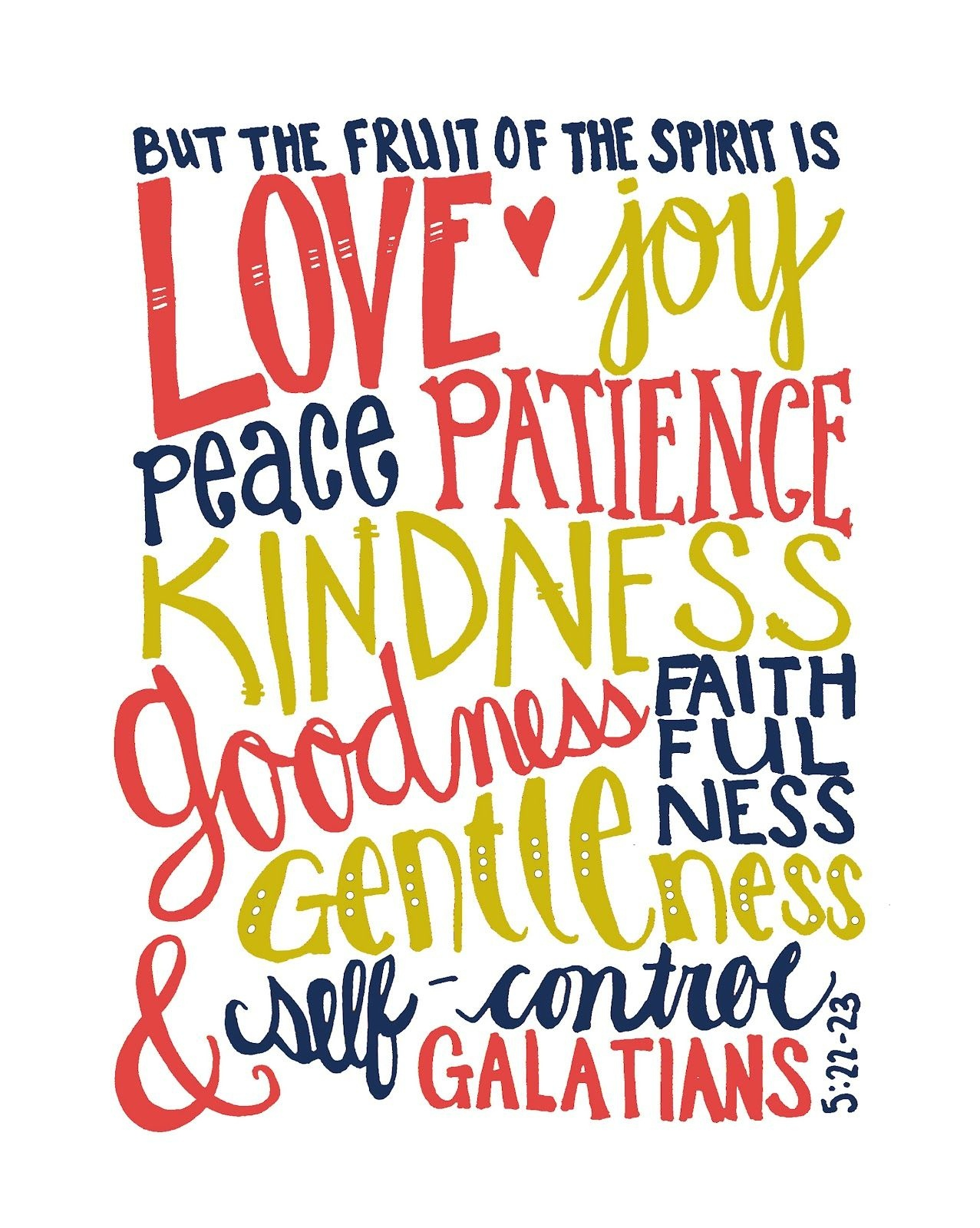 The Fruits Of The Spirit- Free Printable | Crafts - Fruit Of The Spirit Free Printable