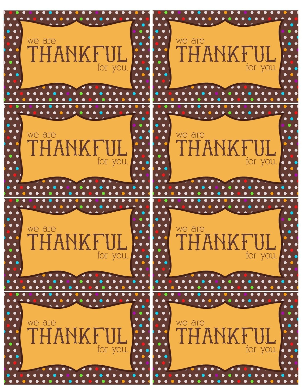 The Larson Lingo: Thankful For You {Free Printable}. So Cute To Put - Thankful For You Free Printable Tags