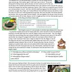 The Legend Of The Lambton Worm Worksheet   Free Esl Printable   Free Printable Worm Worksheets