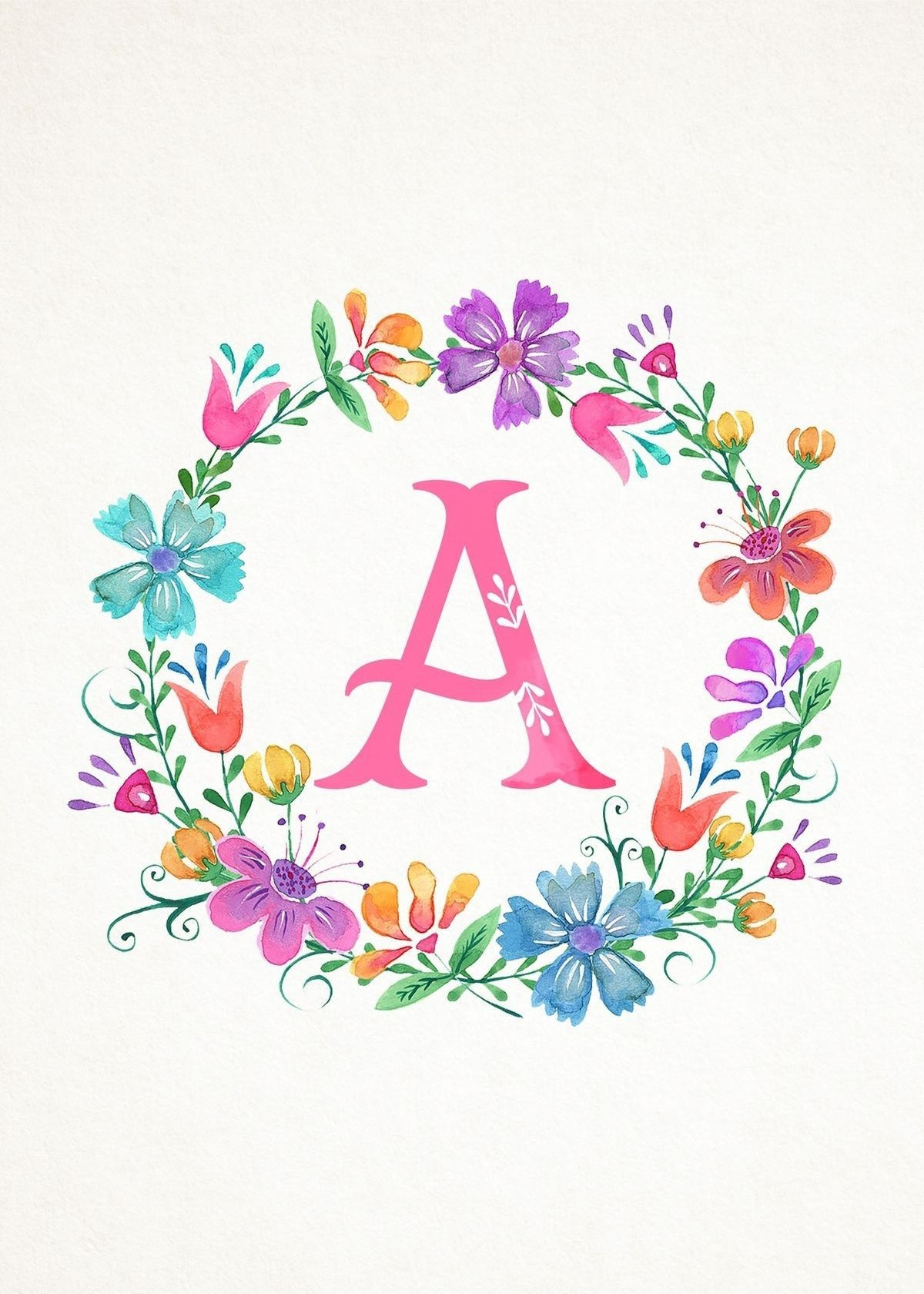 The Letter A Typography Art | Artwork: Typography Letters In 2019 - Free Printable Photo Letter Art