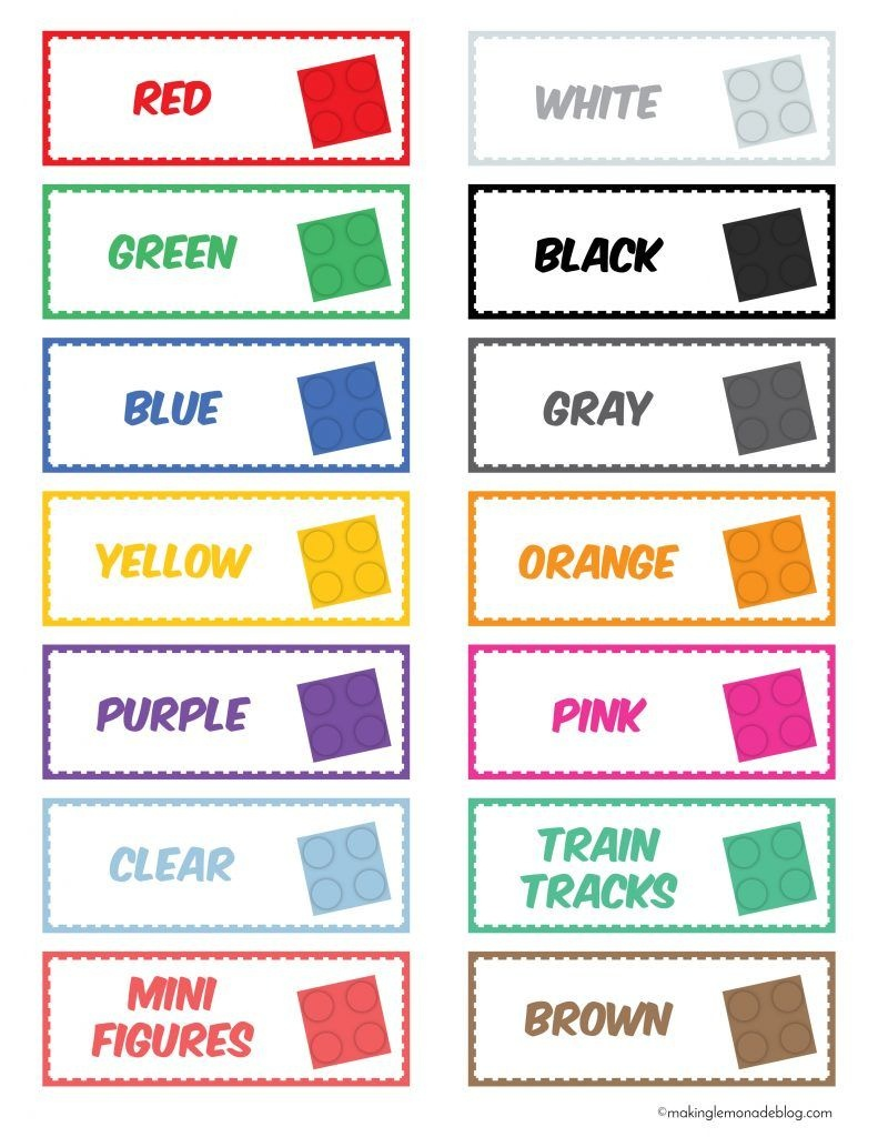 The Magical Lego Organizing Solution & Free Printable Labels - Free Printable Labels For Storage Bins