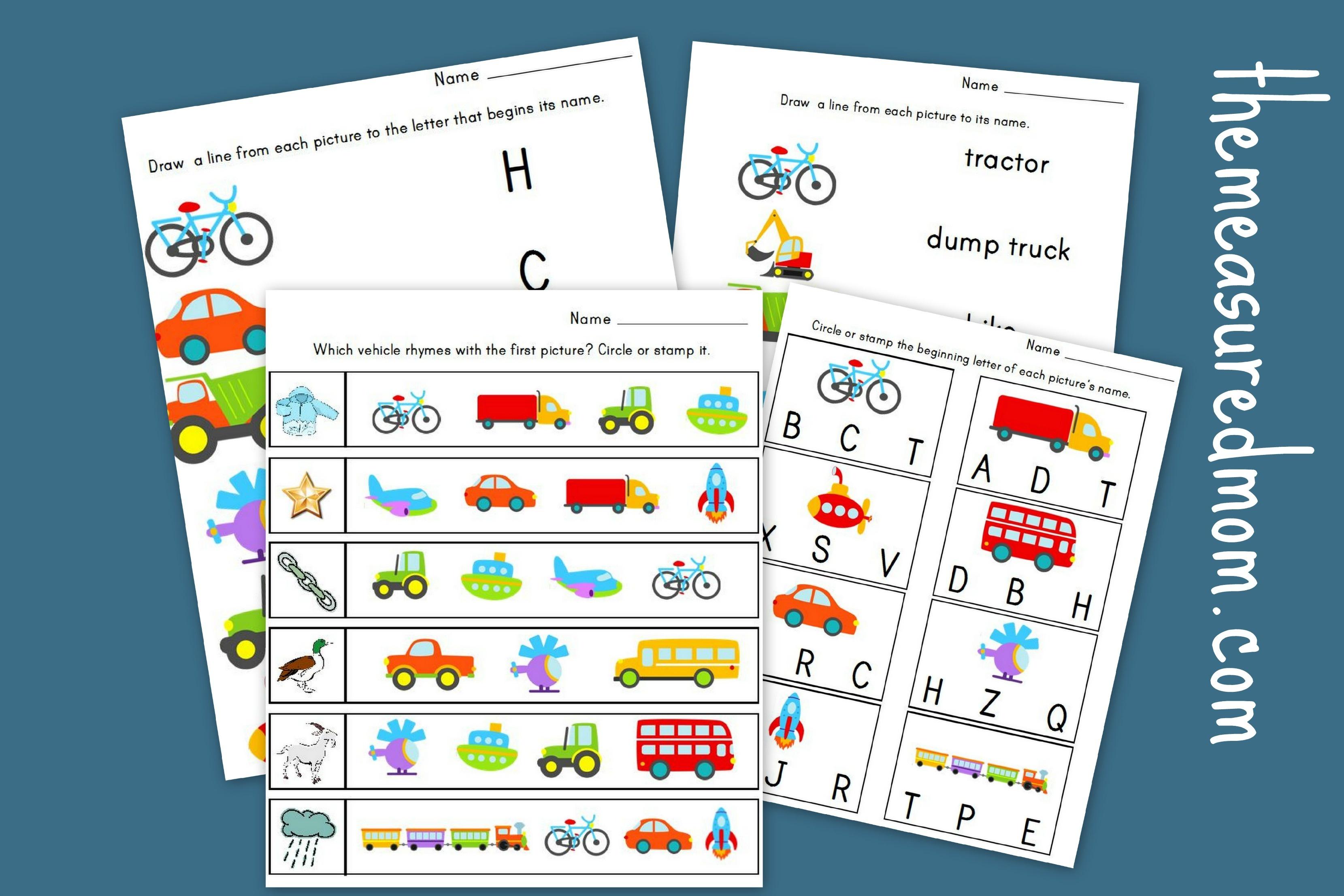 The Measured Mom - Free Printable Transportation Worksheets For Kids