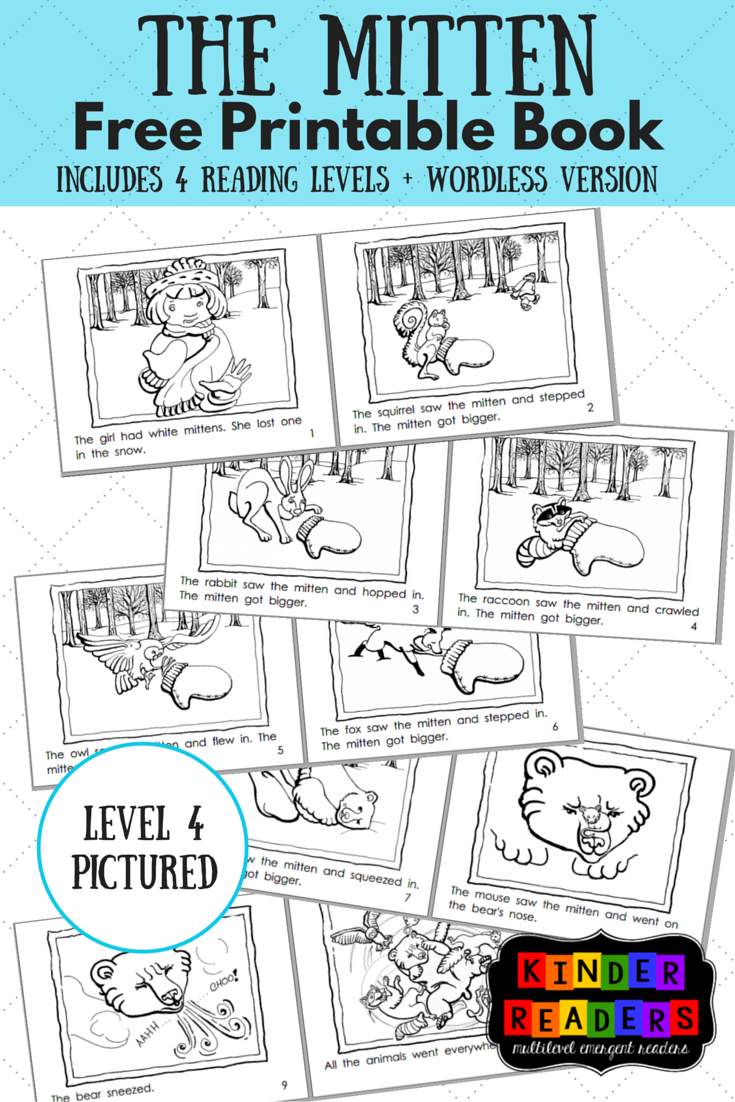The Mitten Activities To Go With The Book! | Piano & Mt - Free Printable Books For Kindergarten