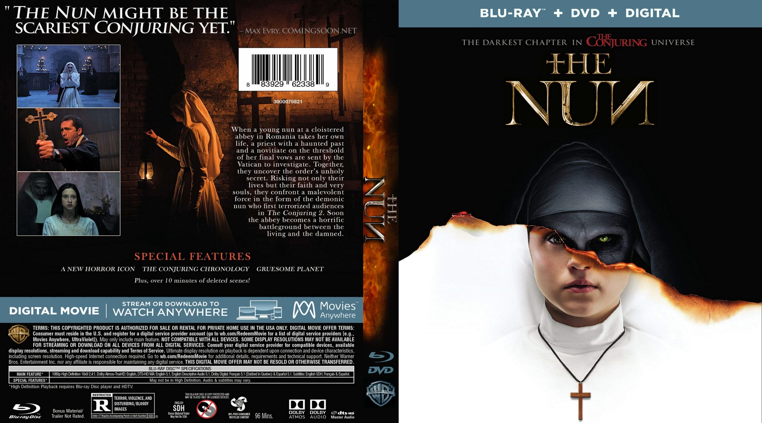 The Nun Bluray Cover - Cover Addict - Free Dvd, Bluray Covers And - Free Printable Blu Ray Covers
