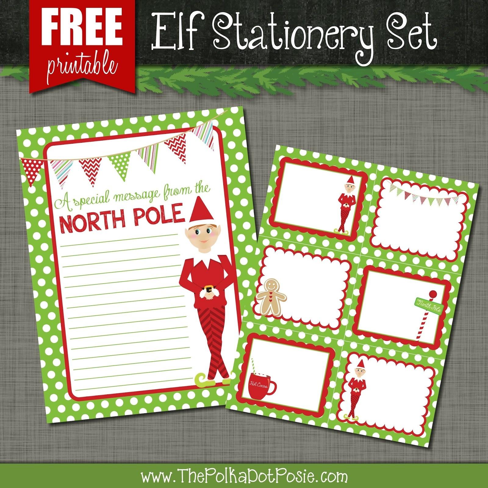 The Polka Dot Posie: Free Printables For Your Christmas Elf - Free Printable Christmas Stationery For Kids