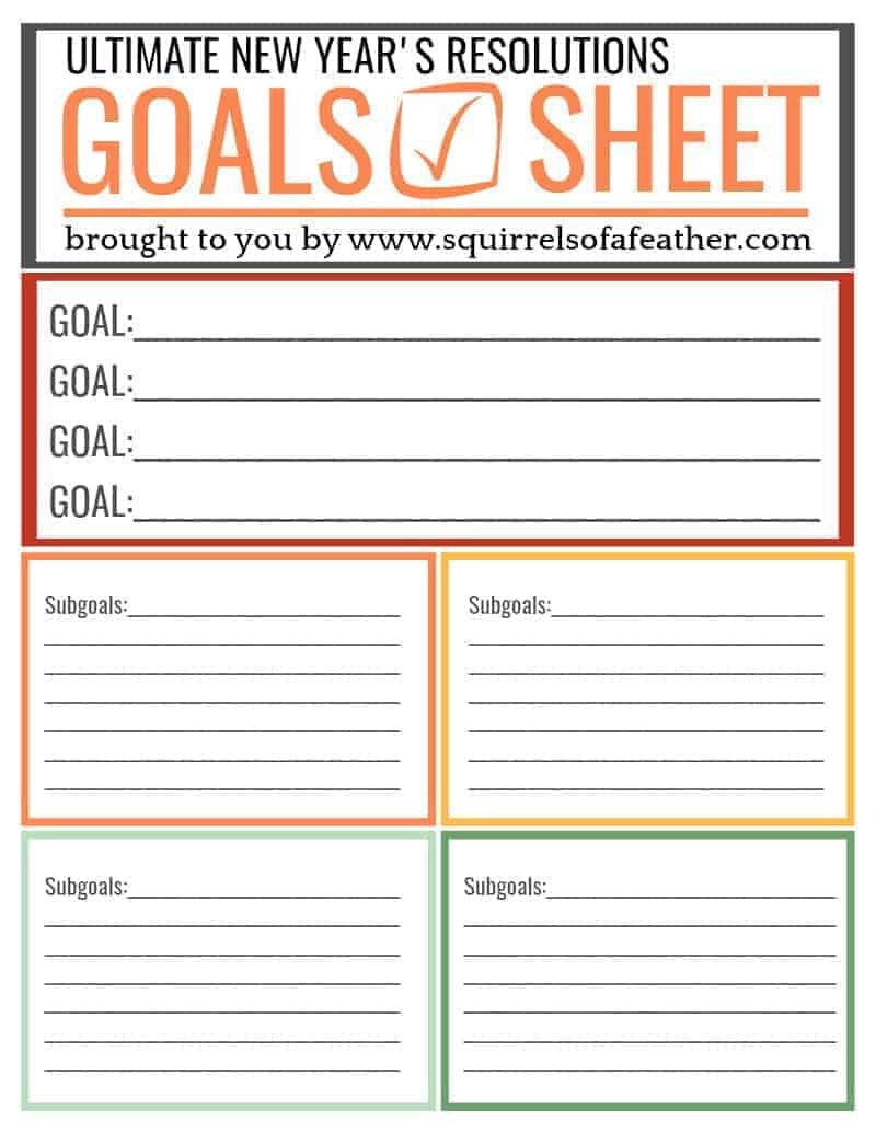 The Secret To Keeping New Year's Resolutions [With Free Printable] - Free New Year's Resolution Printables