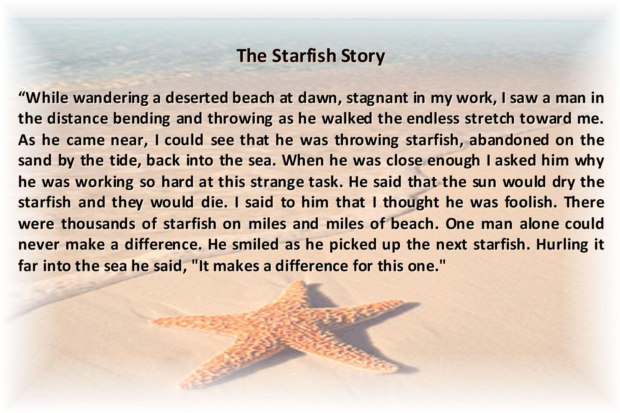 The Starfish Story   Loren Eiseley   Nebraska Author   Travel - Starfish Story Printable Free