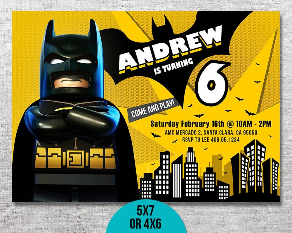 The Top 20 Ideas About Lego Batman Birthday Party Invitations - Home - Lego Batman Invitations Free Printable