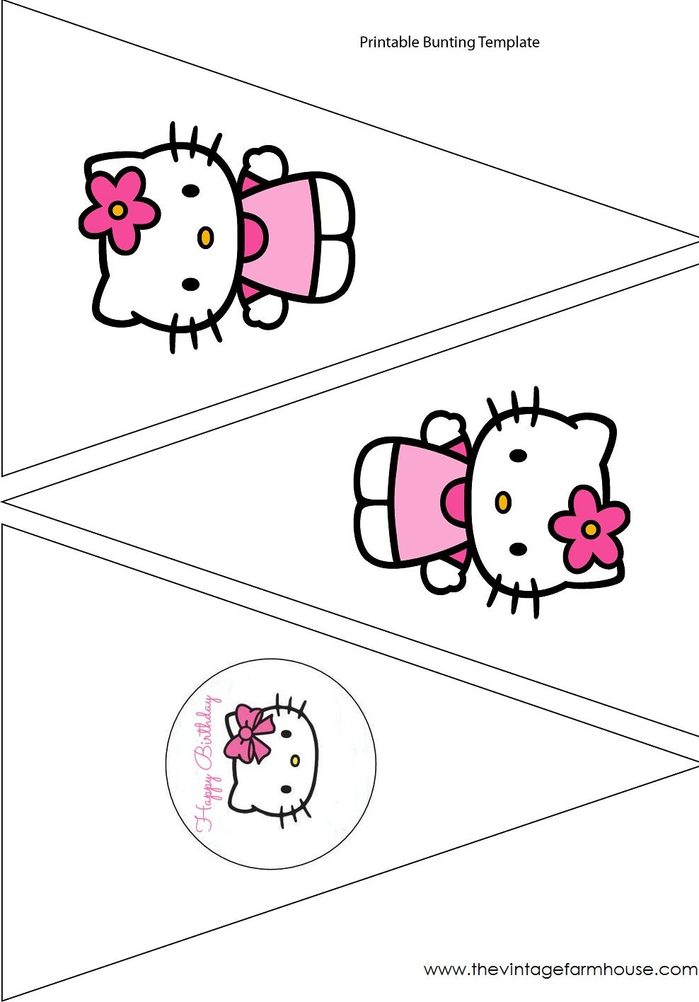 The Vintage Farmhouse: Hello Kitty Party & Free Printables   Hello - Free Printable Hello Kitty Pictures