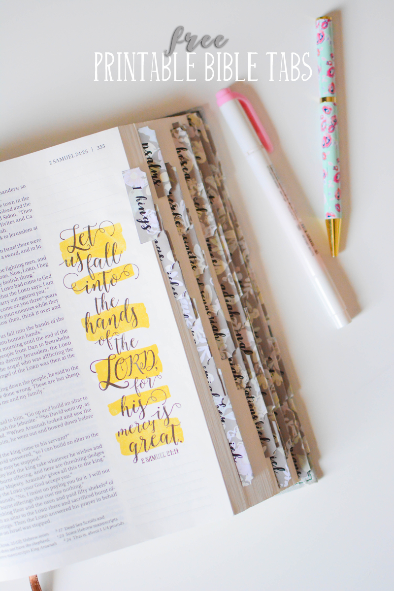 These Free Printable Bible Tabs Come In Two Fonts. Print Them On - Bible Tabs Printable Free