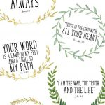 These Printable Bible Verses Are Free, And Are Perfect To Help Your   Free Printable Bible Verses