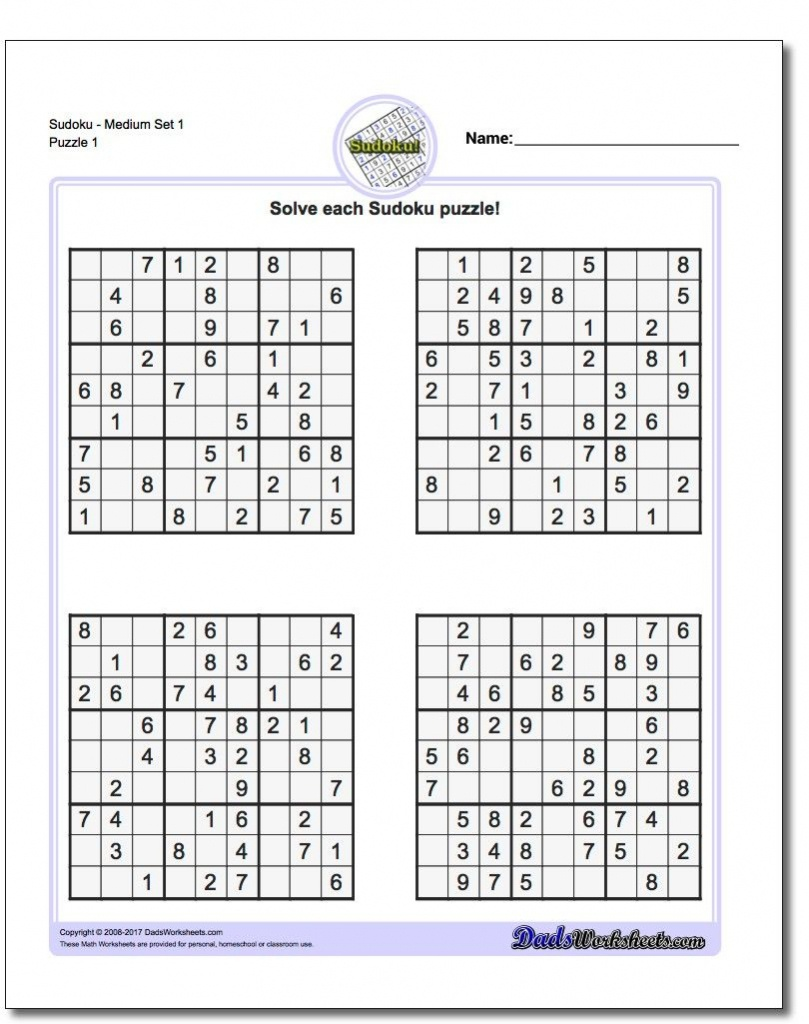 These Printable Sudoku Puzzles Range From Easy To Hard, Including - Www Free Printable Sudoku Puzzles Com