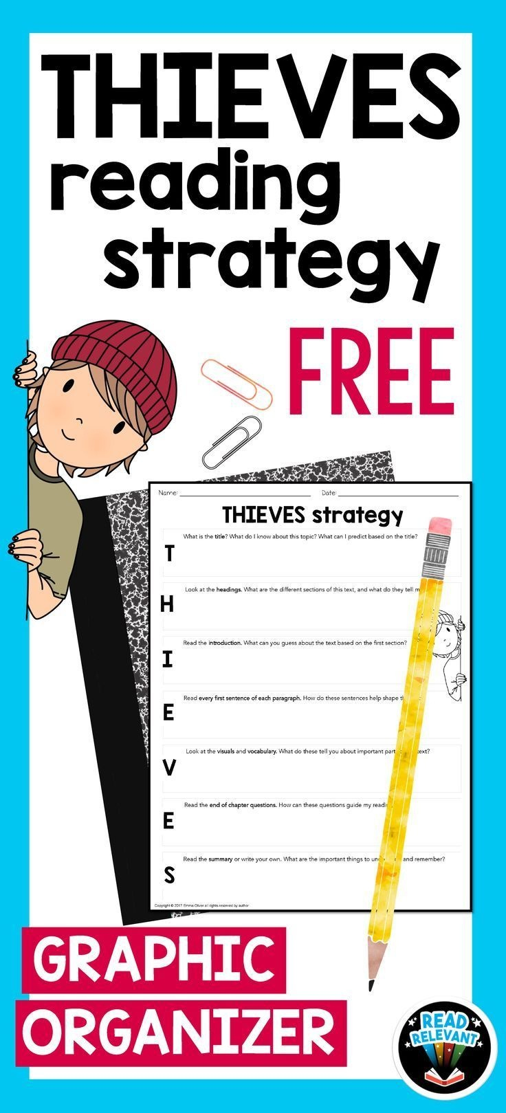 Thieves Reading Strategy: Free | Tpt Free Lessons | Pinterest - Free Printable Read Naturally Passages