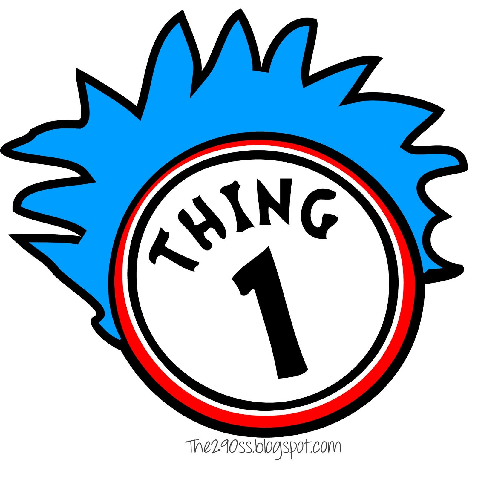 Thing 1 And Thing 2 Clipart | Free Download Best Thing 1 And Thing 2 - Thing 1 And Thing 2 Free Printable Template