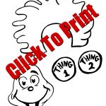 Thing 1 & Thing 2 Puppets Dr. Seuss Crafts W/free Printable | Dr   Thing 1 And Thing 2 Free Printable Template