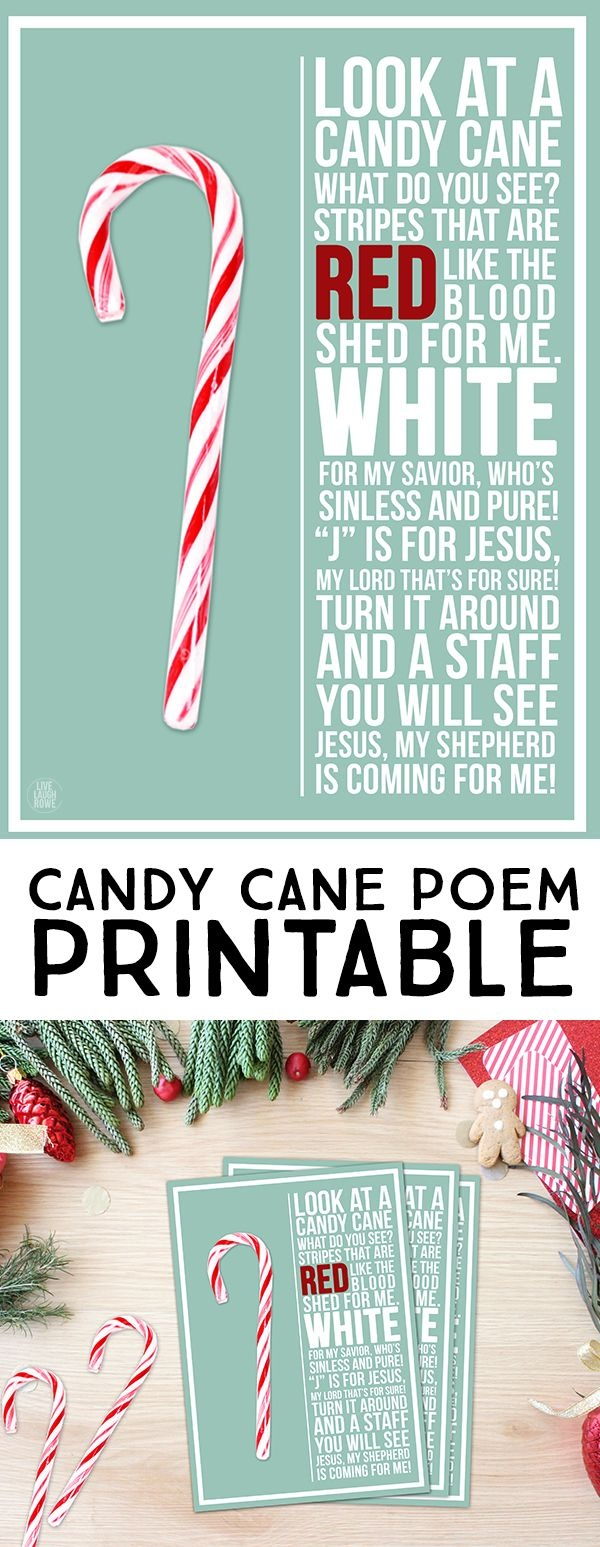 This Candy Cane Poem Is A Lovely Reminder Of The True Reason For The - Free Printable Candy Cane Poem