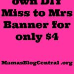 This Diy Miss To Mrs Banner Is So Easy To Make For Only $4 | Crafts   Free Printable Miss To Mrs Banner