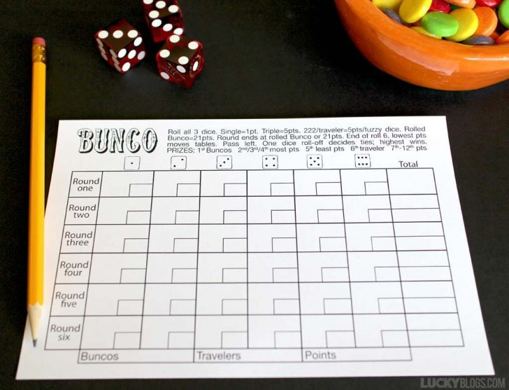 Free Printable Halloween Bunco Score Sheets