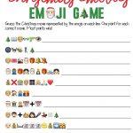 This Free Printable Christmas Emoji Game Is One Of The Most Fun   Free Printable Christmas Games For Adults