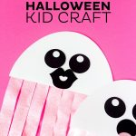 This Free Printable Ghost Halloween Craft Would Be A Great Activity   Halloween Crafts For Kids Free Printable