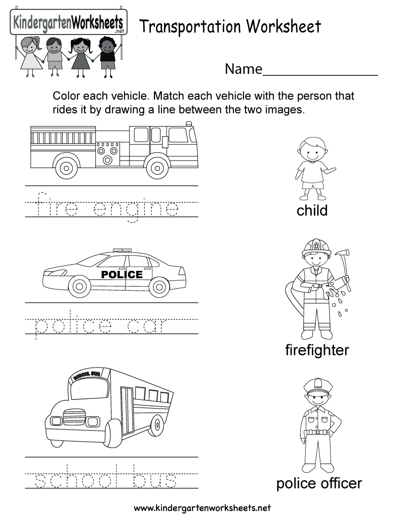 This Is A Fun Transportation Worksheet That Can Be Colored And - Free Printable Transportation Worksheets For Kids
