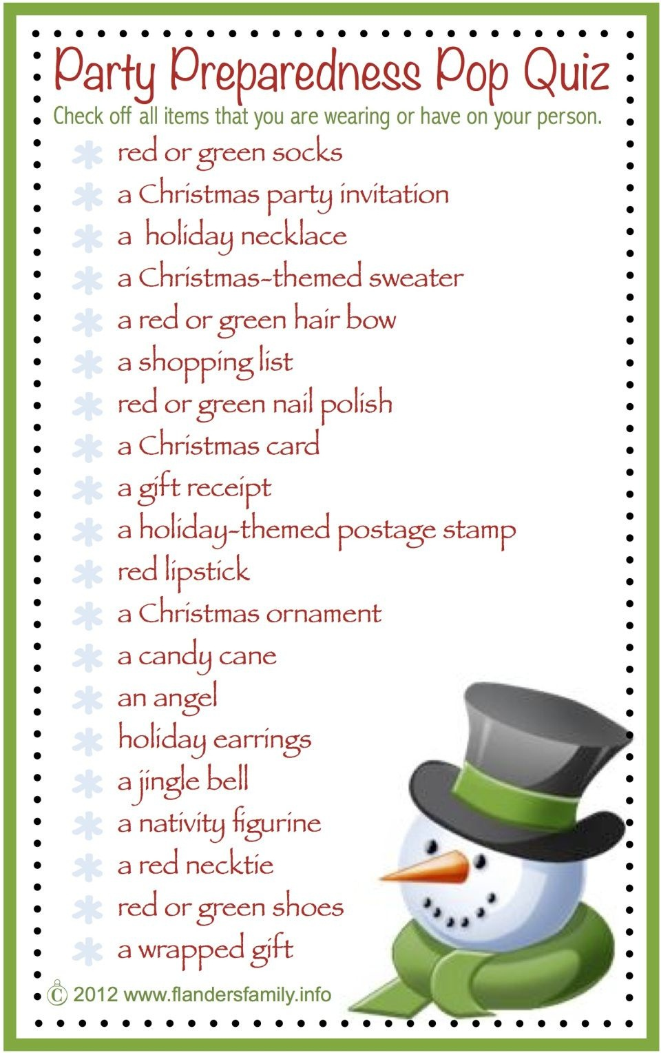 This Site Has Lots Of Free Printable Party Games And Activities For - Free Printable Christmas Family Games