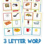 Three Letter Word Cards ~ Free Printable | Kindergarten Stuff | 3   Free Printable Cvc Words With Pictures
