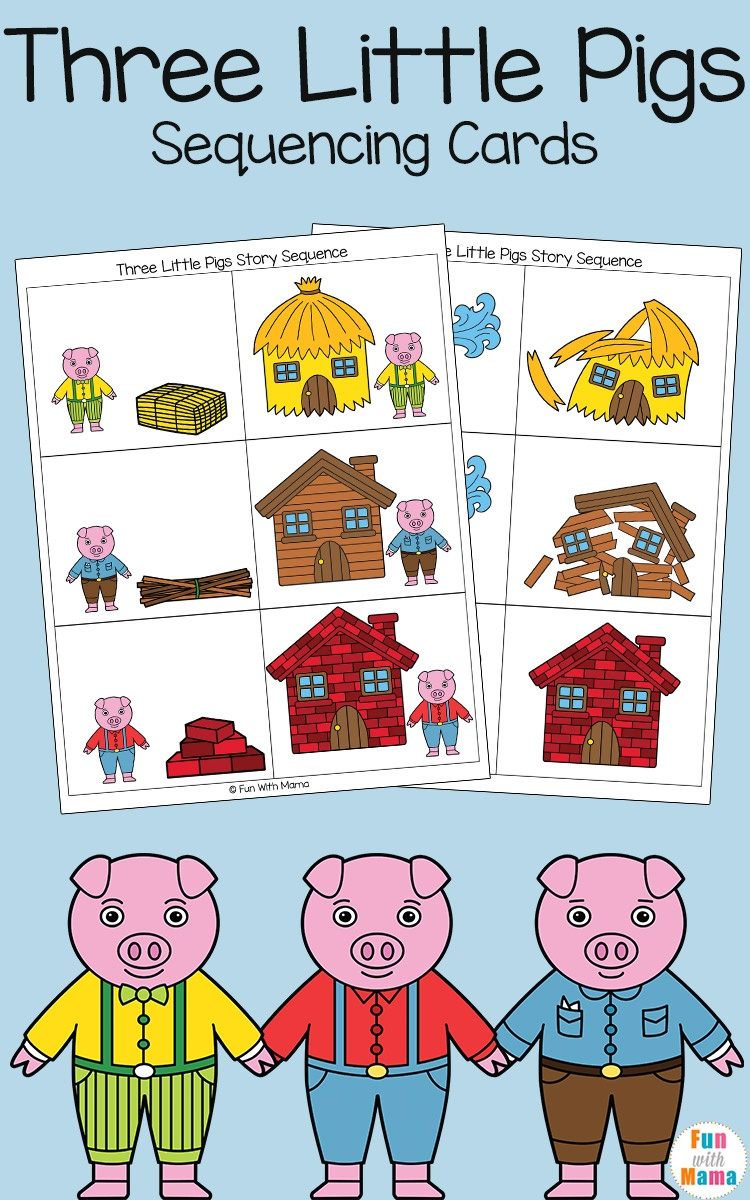 Three Little Pigs Sequencing Cards - Fun With Mama - Free Printable Sequencing Cards