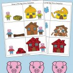 Three Little Pigs Sequencing Cards | Nursery Ryhmes, Folk Tales   Free Printable Cause And Effect Picture Cards
