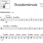 Thunderstruck – Acdc – Drum Sheet Music – Onlinedrummer   Free Printable Drum Sheet Music