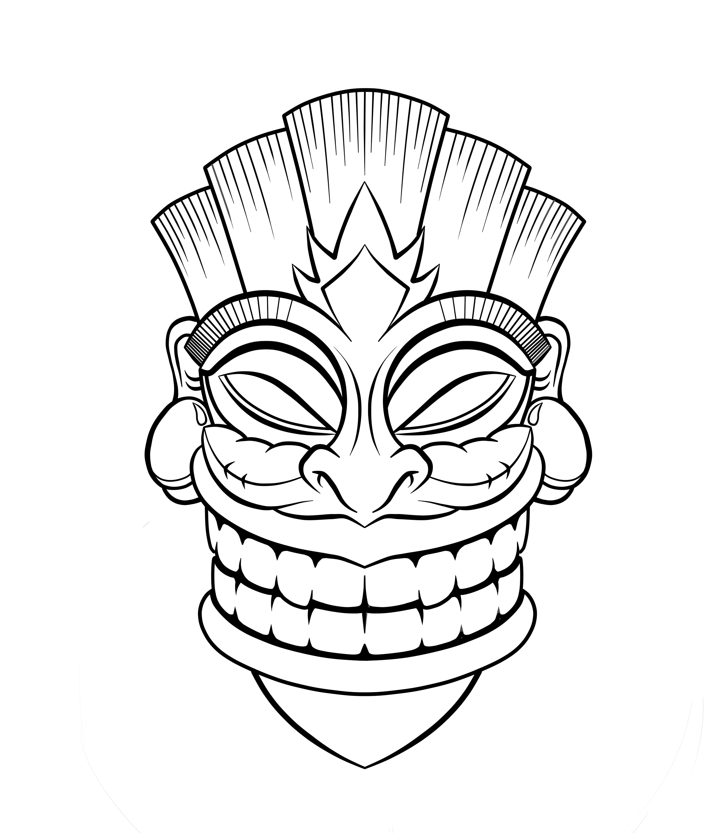 Tiki Hut Clipart Cliparts Co | Tiki Time | Tiki Tattoo, Tiki Totem - Tiki Coloring Pages Free Printables