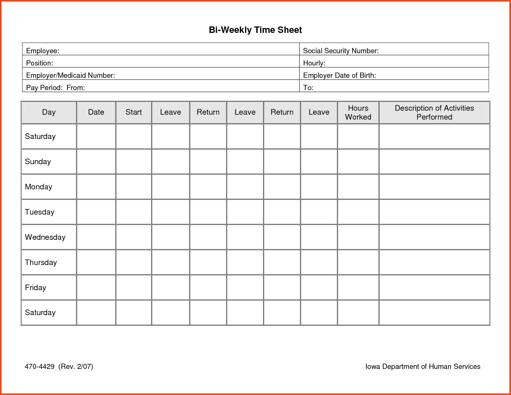 Time Sheets Template Unique 013 Time Sheet Templates Free Daily - Time Card Templates Free Printable