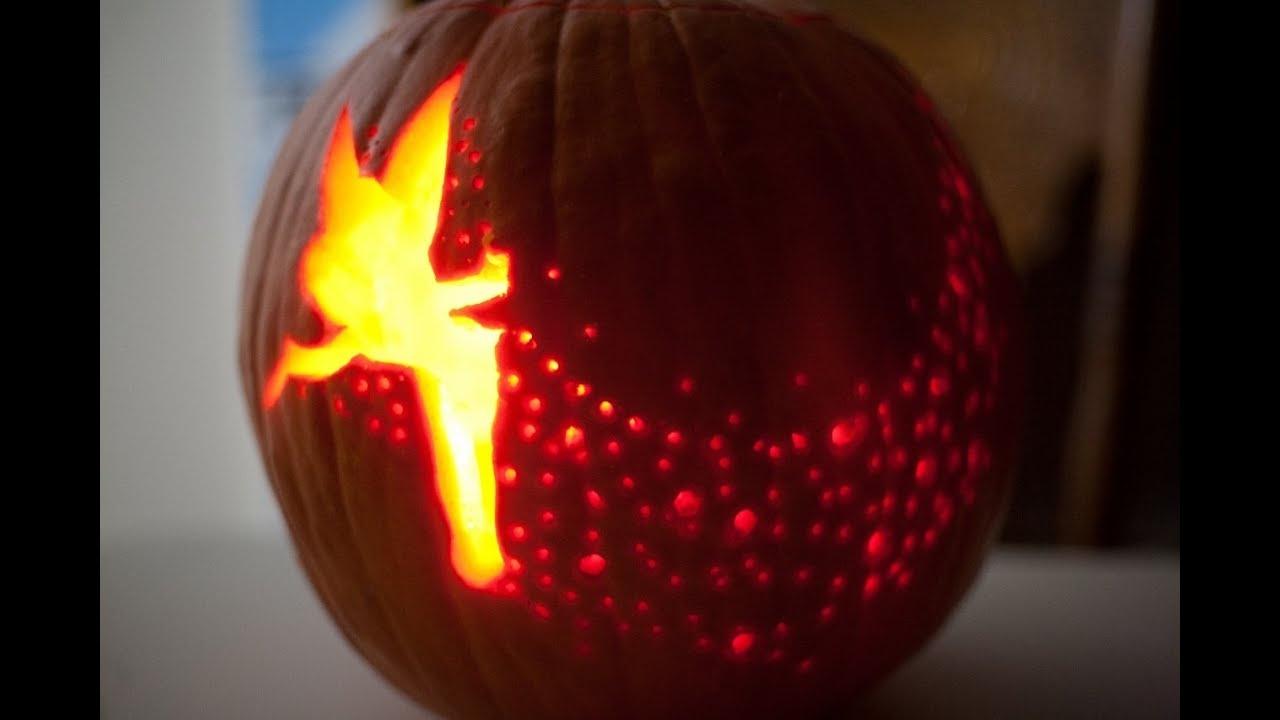 Tinkerbell Pumpkin Carve Time Lapse - Youtube - Tinkerbell Pumpkin Stencils Free Printable