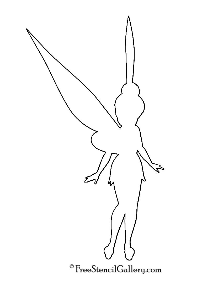 Tinkerbell Silhouette Stencil | Tinkerbell Birthday Party - Tinkerbell Pumpkin Stencils Free Printable