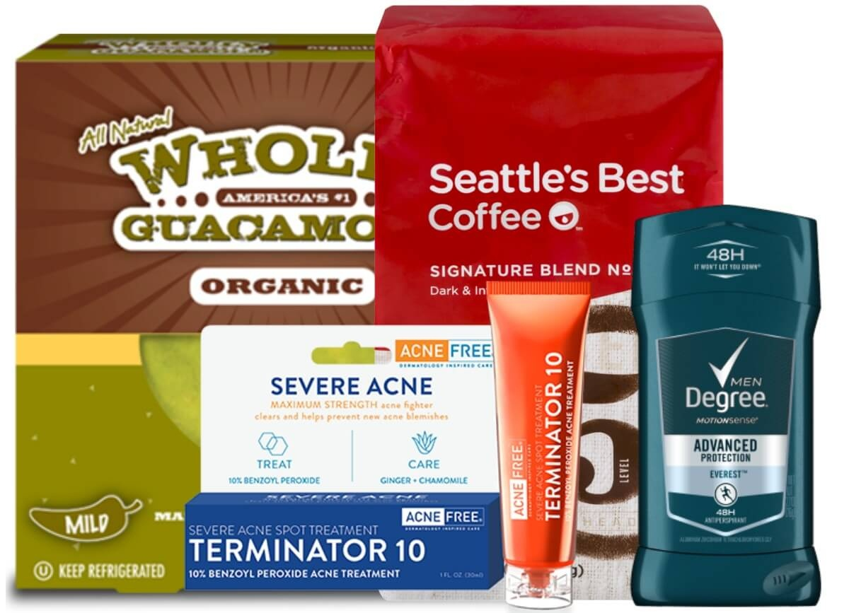 Today's Top New Coupons - Save On Acnefree, Wholly Guacamole - Acne Free Coupons Printable
