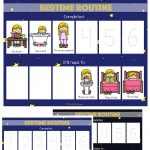 Toddler Bedtime Routine Chart Sequencing Activity   Fun With Mama   Free Printable Bedtime Routine Chart