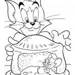Tom Jerry Pencil Drawings Coloring Page 01 | Tom And Jerry Coloring   Free Printable Tom And Jerry Coloring Pages
