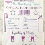 Tooth Fairy Receipt And Letter Printables   Crafty Little Gnome   Free Tooth Fairy Printables