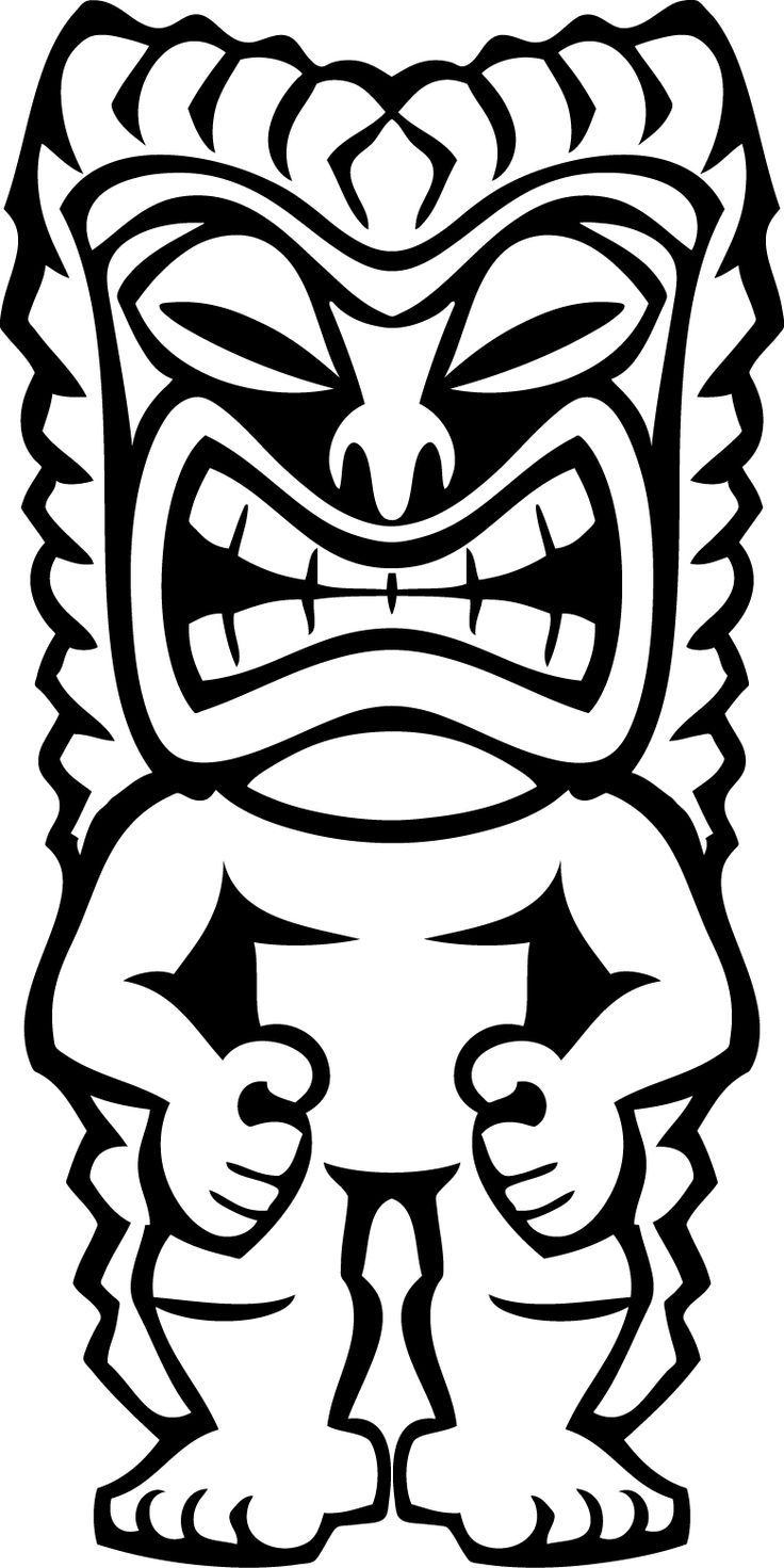 Totem Pole Coloring Pages Free | View Similar Images More From - Tiki Coloring Pages Free Printables