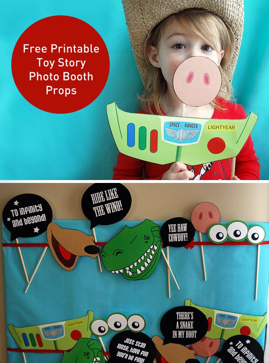 Toy Story Photo Booth Props {Free Printable Pdf} | Kiddo Things - Free Printable Toy Story 3 Birthday Invitations