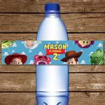 Toy Story Water Bottle Label. Printable Toy Story Water | Etsy   Free Printable Toy Story Water Bottle Labels