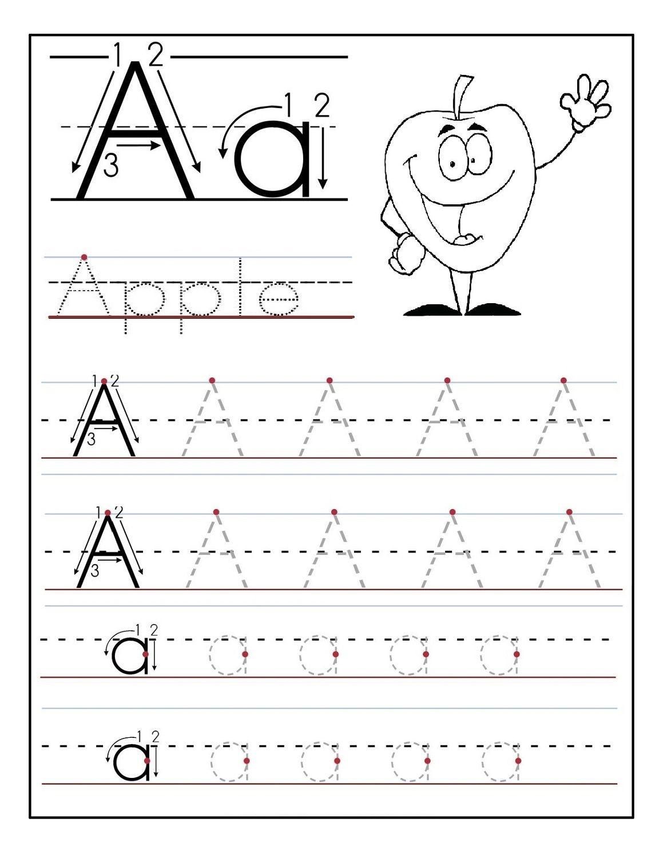 Trace Letter A For Preschool | Kids Stuff Organization | Preschool - Free Printable Letter Tracing