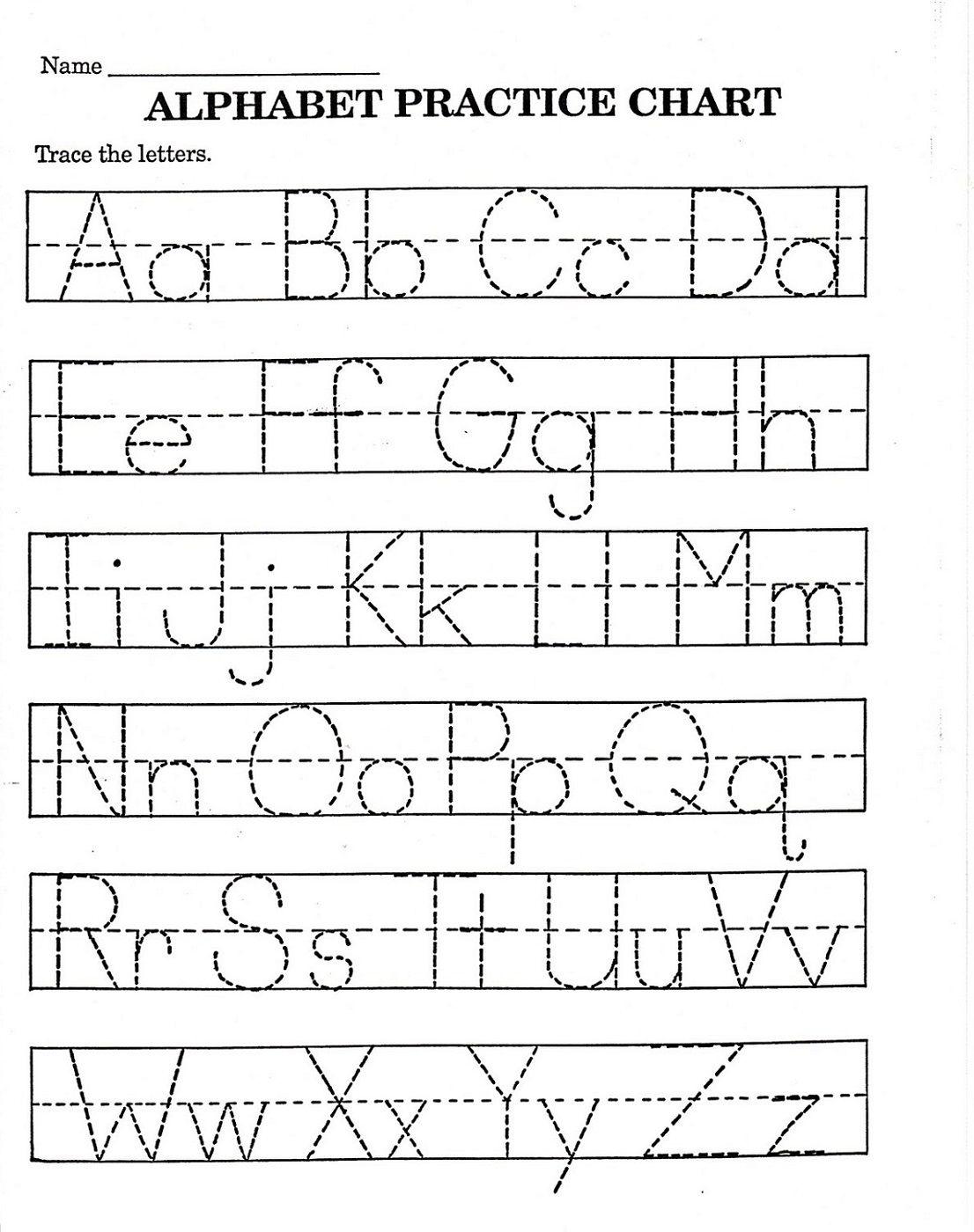 Trace Letter Worksheets Free | Reading And Phonics | Pre K Math - Free Printable Alphabet Worksheets For Kindergarten