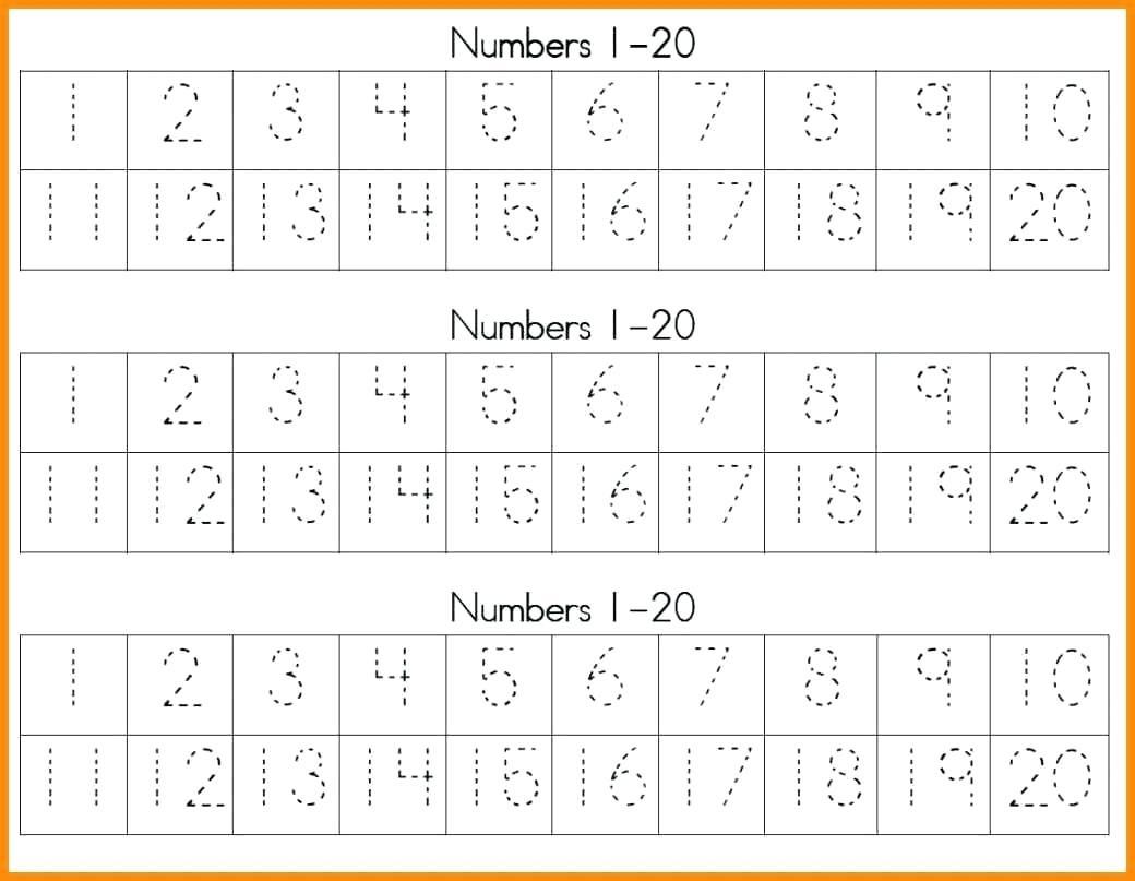 Trace Numbers 1 20 – Beles.club - Free Printable Tracing Numbers 1 20 Worksheets