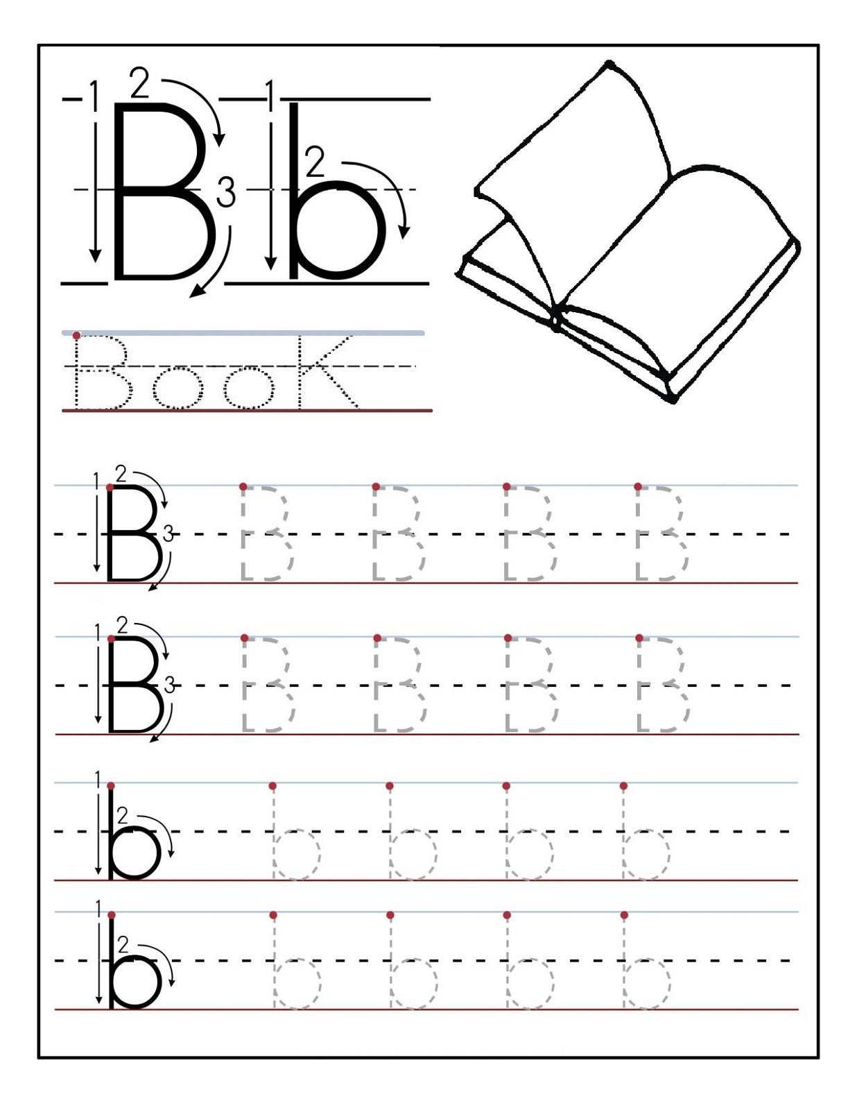 Traceable Letters Worksheet For Children Golden Age Activities - Free Printable Letter Tracing Sheets