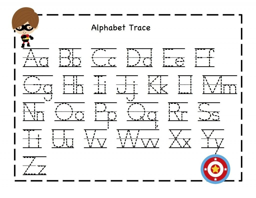 Tracing Alphabet Abc | Kiddo Shelter | Alphabet And Numbers Learning - Free Printable Tracing Alphabet Worksheets