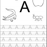 Tracing The Letter A Free Printable | Alphabet And Numbers Learning   Free Printable Activities For Preschoolers